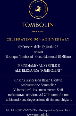 invito evento anniversario boutique tombolini